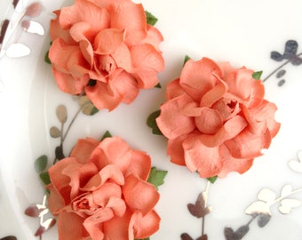 Peach Paper Flowers DIY Wedding Diy Favors Table Numbers For Decor