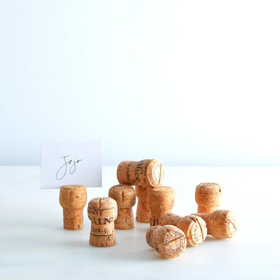 Champagne Cork Place Card Holder Place Card Display Rustic Wedding Signs Rustic Wedding Decor Wine Tasting Bridal Shower Wine Wedding