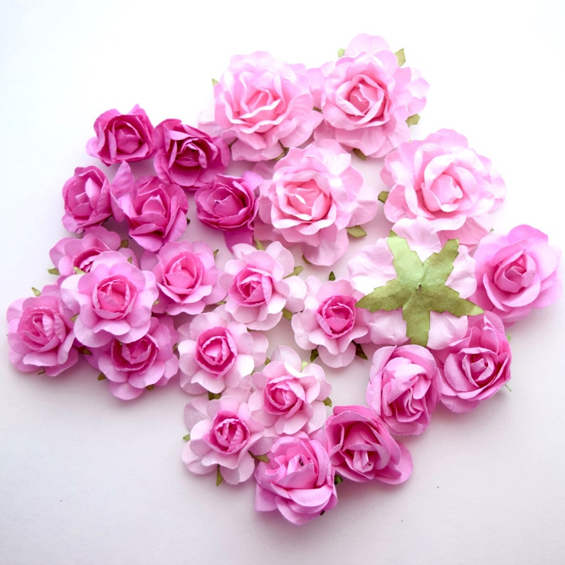 25 Pink Paper Flowers Diy Wedding Decorations Kit Wedding Favors In Bulk Pink Wedding Decor Paper Flower Garland Paper Flowers Wall Decor