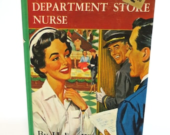 Vintage Book Style e-Reader Case Made from Retro Nurse Hardback,  Aqua Blue Lining, Fits Kindle Fire, Voyage, Paperwhite, Galaxy Tab, LG Pad