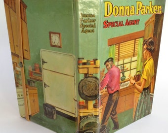 """Retro Donna Parker Tablet Case Made from 1957 Book """"Secret Agent"""", Fits Kindle 7 inch, Fire, HD7, Galaxy Tab, Nexus 7, Nook Touch"""