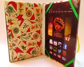eReader Case Made from Vintage Boys Hardback Book with Chinese Theme, Fits Kindle Paperwhite, Fire, Voyage, Nook, Nexus 7, Galaxy Tab