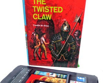 Red Tablet Case Made from Retro Hardy Boys Hardback Book, with Suit of Armor [*Kindle Fire, *Kindle Paperwhite, *Galaxy Tab, * Nexus 7]