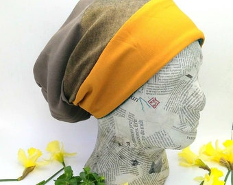 Winter mustard hat, unisex hat and casual style. Women and men hat. Unique and handmade hat.
