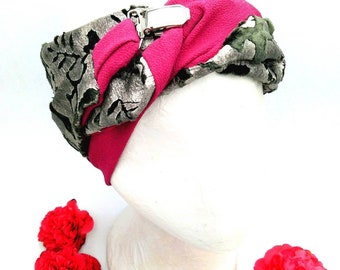 Cute silk velvet bandana, to stand out with a sophisticated touch