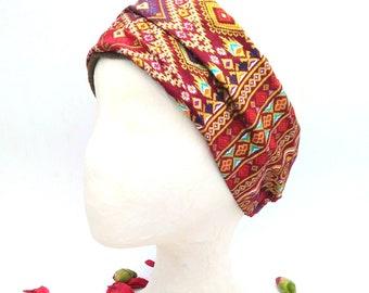 Thai fabric bandana, 100% cotton. Yoga bandana. Bandana style. Cheerful turban. Perfect for bad hair days