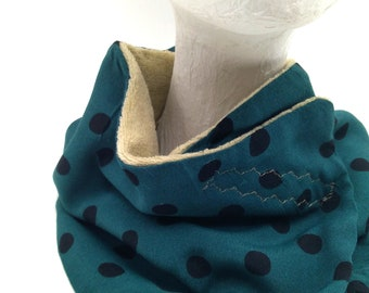 Winter neck warmer vintage and art decó style. For women and men. Original and handmade