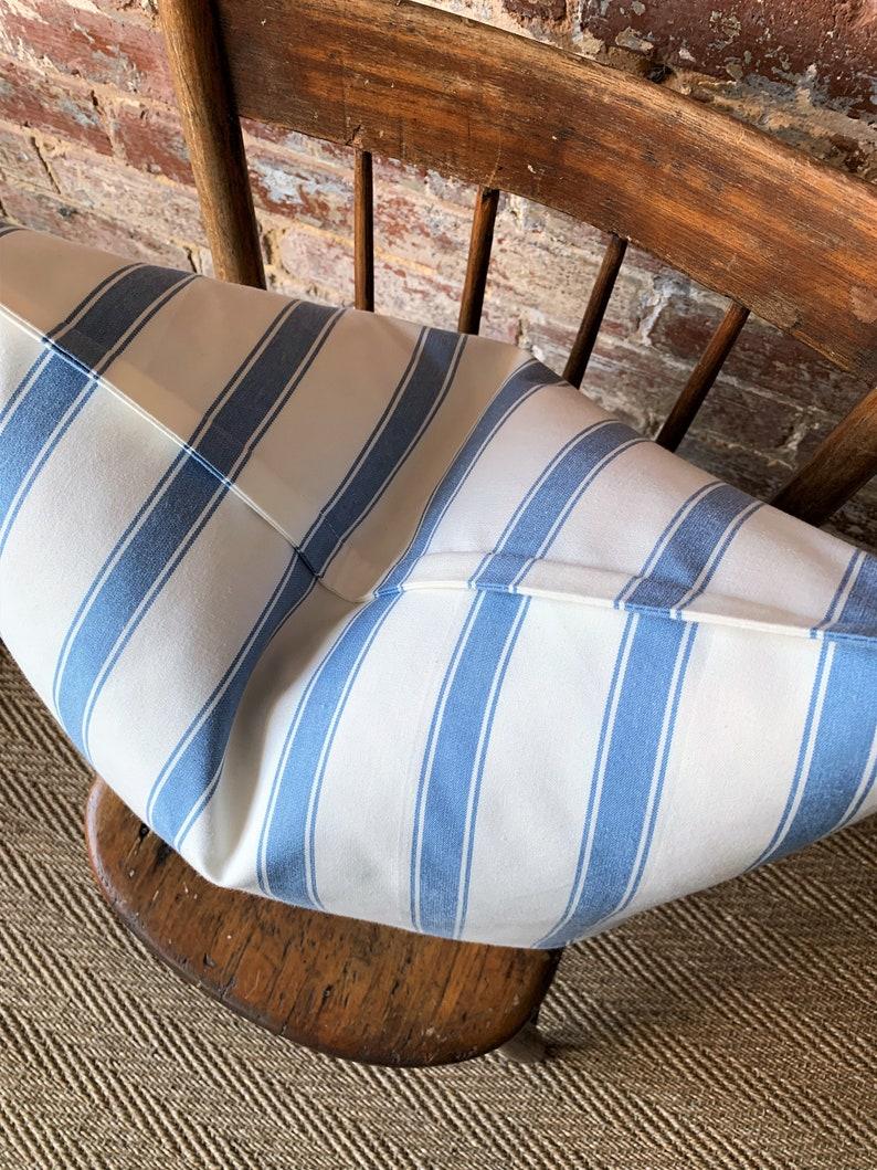 York in Chambray  20 x 20 Euro Stripe Pillow