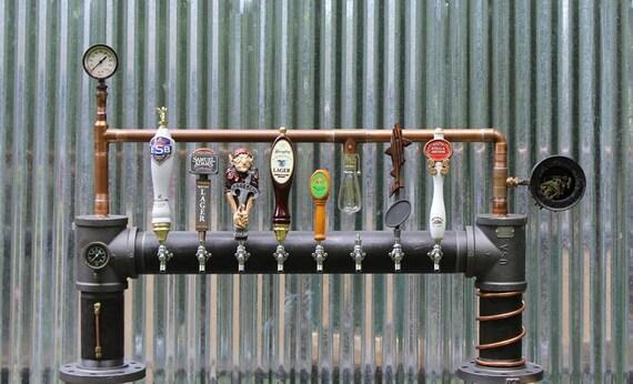 **CUSTOM BUILT Industrial Style Beer Tower or Bridge Steampunk style**