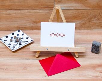 xoxo Letterpress Single Card