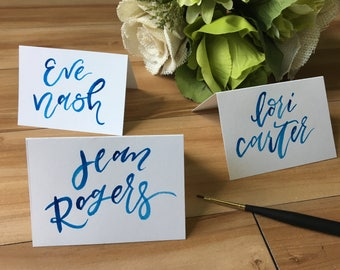 Custom Brush Calligraphy Place Cards, Calligraphy Escort Cards