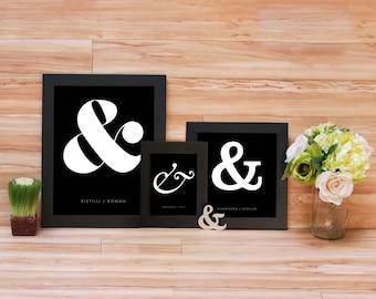 Ampersand Minimalist Print - Black