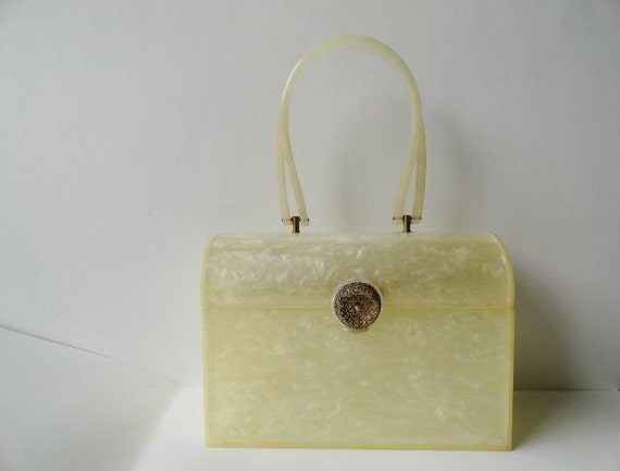 Vintage Handbags|VINTAGE Lucite WEDDING Purse Hand