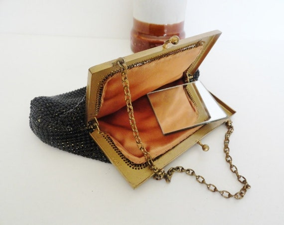 Whiting Davis Handbags|Vintage 1940s Black Ombre M