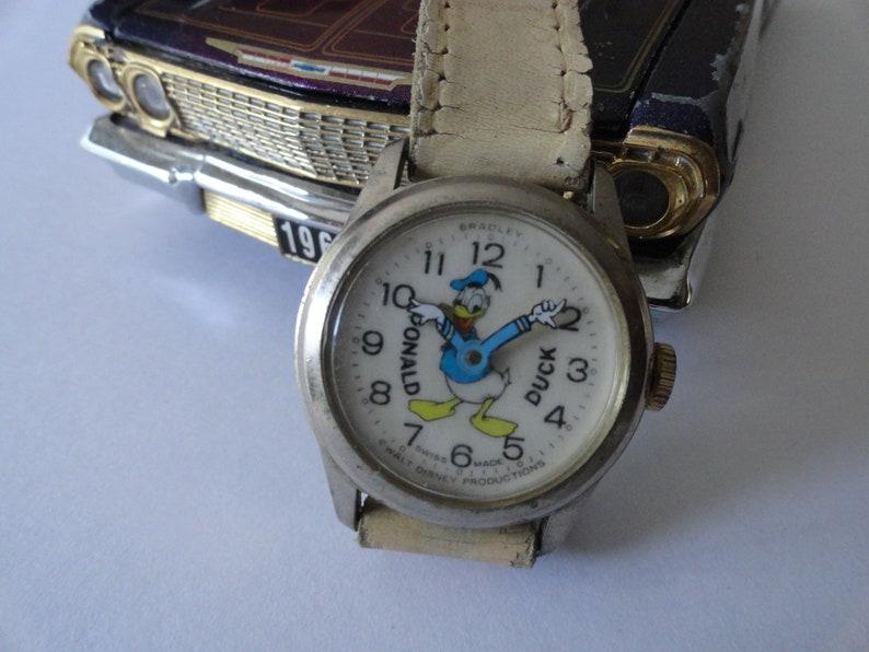 110b078b8 RARE Vintage Bradley Donald Duck Mechanical WatchDonald Duck | Etsy