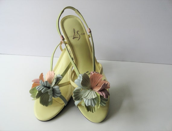 Scarpe Da Sposa Gialle.Sandali Da Sposa Vintage Scarpe Vintage Gialle Tropical Etsy