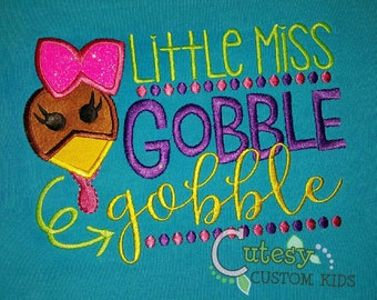 Turkey Shirt, Little Miss Gobble