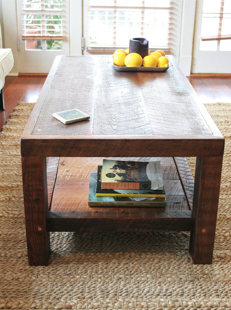 Ordinaire Oversized Coffee Table Made From New Orleans Barge Board And Reclaimed Wood