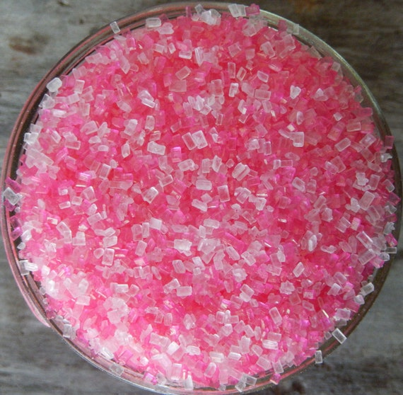 Sprinkles, 6 oz - Pink and White shiny Sugar Crystals Mix - for your Baby  Girl Shower Cupcakes and Cookies - Princess Cookies and Ice Cream