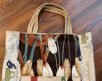Perfectly Imperfect TOTE Bag - Durable Apron Strap - Necktie and Apron Pockets - Collage Style