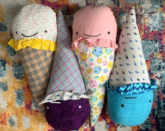 GIANT Ice Cream Cone Pillow - - Sweet Home Decor - Shaped Pillow Toy Plushie - Bed Display