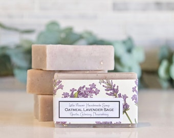 NEW - Oatmeal Lavender & Sage Soap - Handmade Soap
