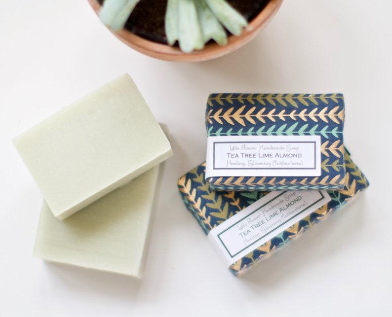 Handmade Soap Tea Tree, Homemade soap, Bar soap, Soap Gift, Tea Tree Soap,  tattoo care Soap, teacher thank you gift, Natural Skincare gift