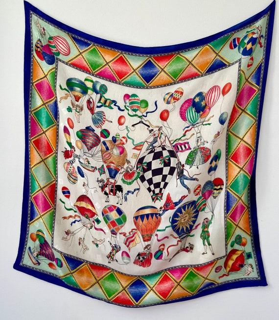 Vintage Moschino Silk Circus Scarf