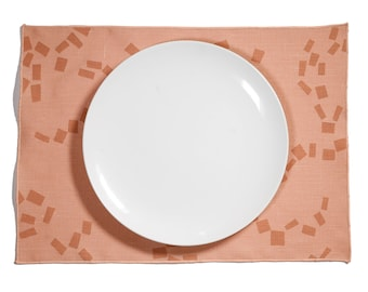 Figures Block Printed Linen Placemat - Add something special to your dinner table with this place setting. Perfect for any event or occasion