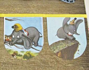 Dumbo Baby Shower Bunting - Nursery Banner Garland Party Supplies - Disney Birthday Elephants First For Kids Children - Bookish Bookworm