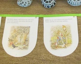 Peter Rabbit Nursery Bunting Garland - Beatrix Potter Birthday Party Baby Shower The Tale of - Homewares Decor Decoration Supplies Boy Girl