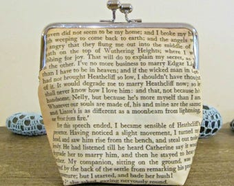 Wuthering Heights Purse Clutch Bag - Quote Whatever Our Souls Are Made Of His And Mine Are The Same - Bronte Bridal Wedding Bridesmaid Gift