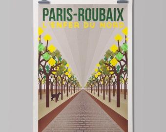 Cycling Art Print  'Paris-Roubaix'