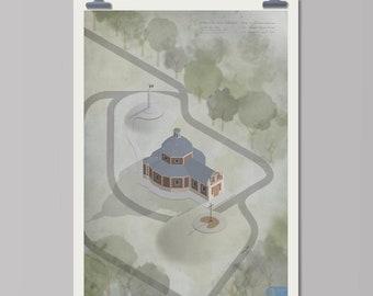 Landmarks: Muur van Geraardsbergen (Tour of Flanders) cycling art print