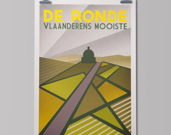 Cycling Art Print 'Tour of Flanders'