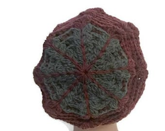Spider Web Hat Crochet Slouchy Hat for Women Handmade Ready to ship