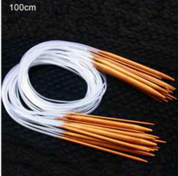 Bamboo Circular Knitting Needles Double Pointed 40-120cm 18pcs//Set