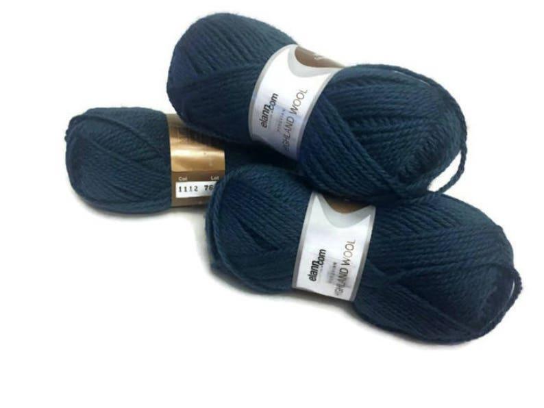 Peruvian Highland Wool Yarn Discontinued From elann.com 3 skeins Mesa Teal Color