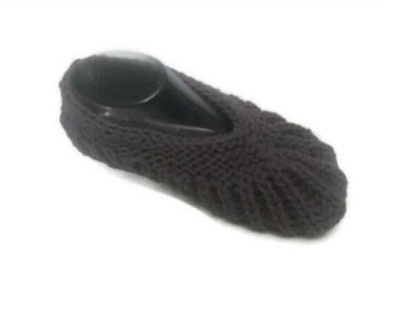 Brioche Stitch Slippers Easy Knitting Pattern Travel Slipper Etsy
