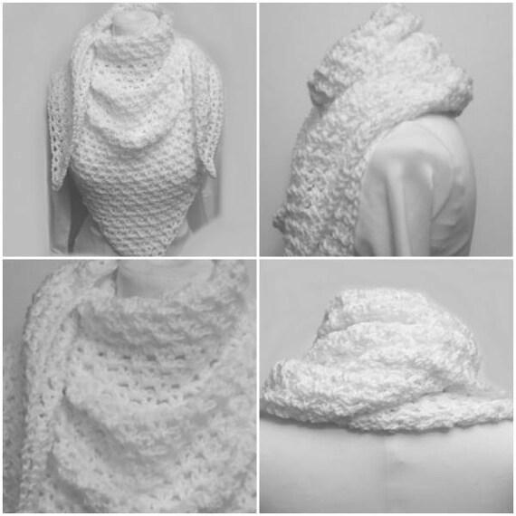 Chal Copo de Nieve Scarf Shawl Wrap Gypsy Crochet Pattern | Etsy