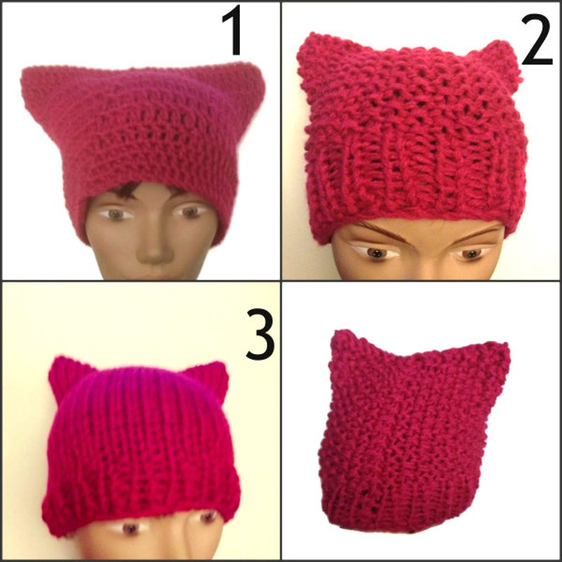 88ca69be6ea Pink Pussy Hat Crochet or Knit Handmade Women s March