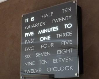 Creative Word Clock 30cm  - The Original by DougsWordClocks.com!