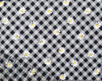 Girl Fabric, Flannel Fabric, Mimosa Daisies Flannel, Fabric BTY, Cotton Fabric, Quilting Fabric, Girl Flannel, Baby Nursery Fabric