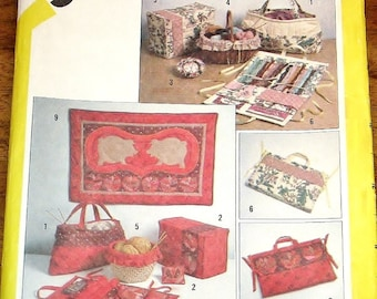 Simplicity 5311 Vintage 1980s Marjorie Puckett Designer Craft Sewing Pattern String Quilted Wall Hanging, Tote Bag, Pin Cushion Uncut FF