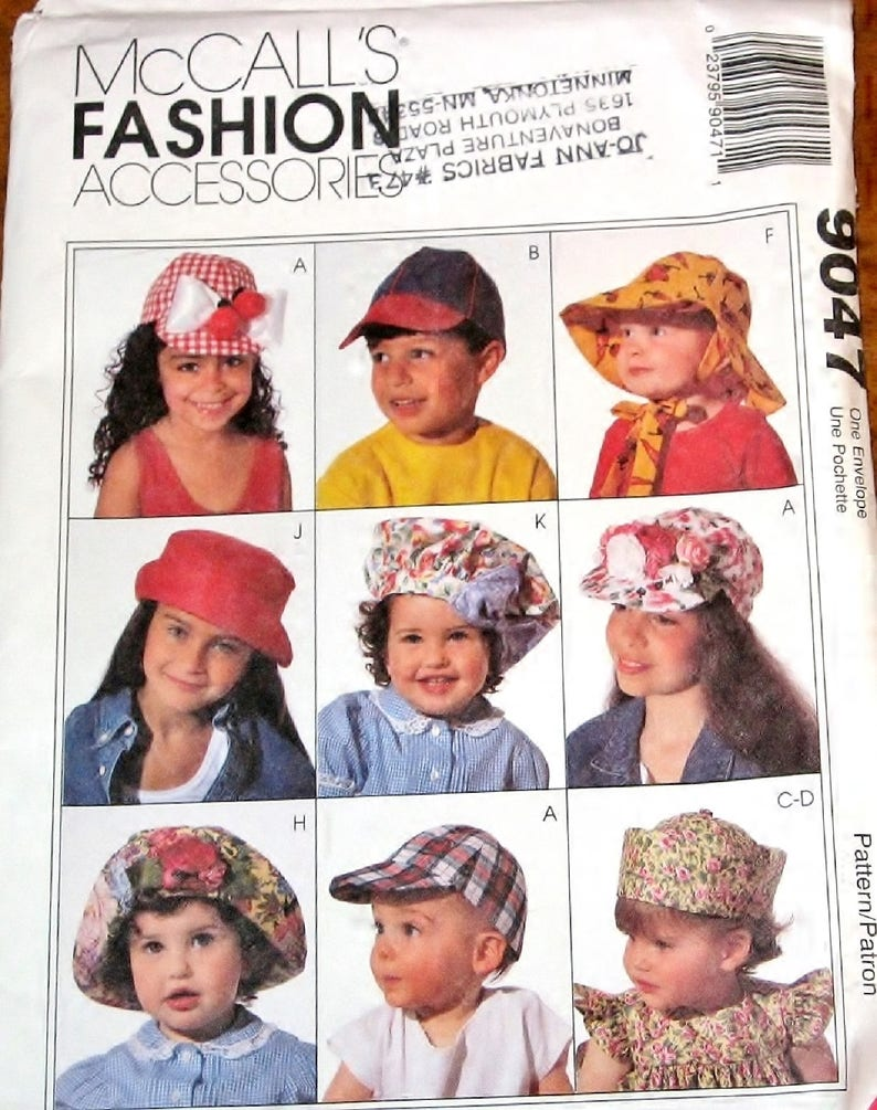 184e33b7bb1 McCall s 9047 Vtg Craft Sewing Pattern Baby s