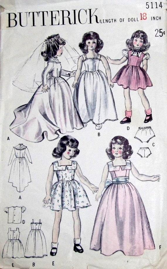 Vtg 1940s Butterick 5114 Craft Sewing Pattern 18 Honey Etsy