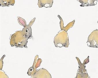 Bunny Animal Valance Organic Cotton Playroom Children/'s Bedroom Rabbit Curtains Nursery