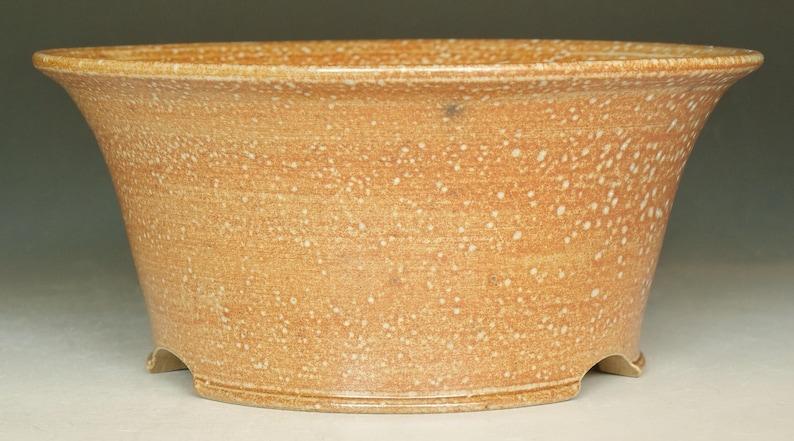 Salt Fired Round Bonsai Planter