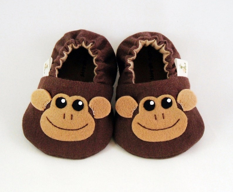 8856c95a67c6a Monkey Baby Booties - Newborn, Infant, Baby Slippers, Footwear, 0 - 18  Months - Adorable Monkey Booties - Boys or Girls
