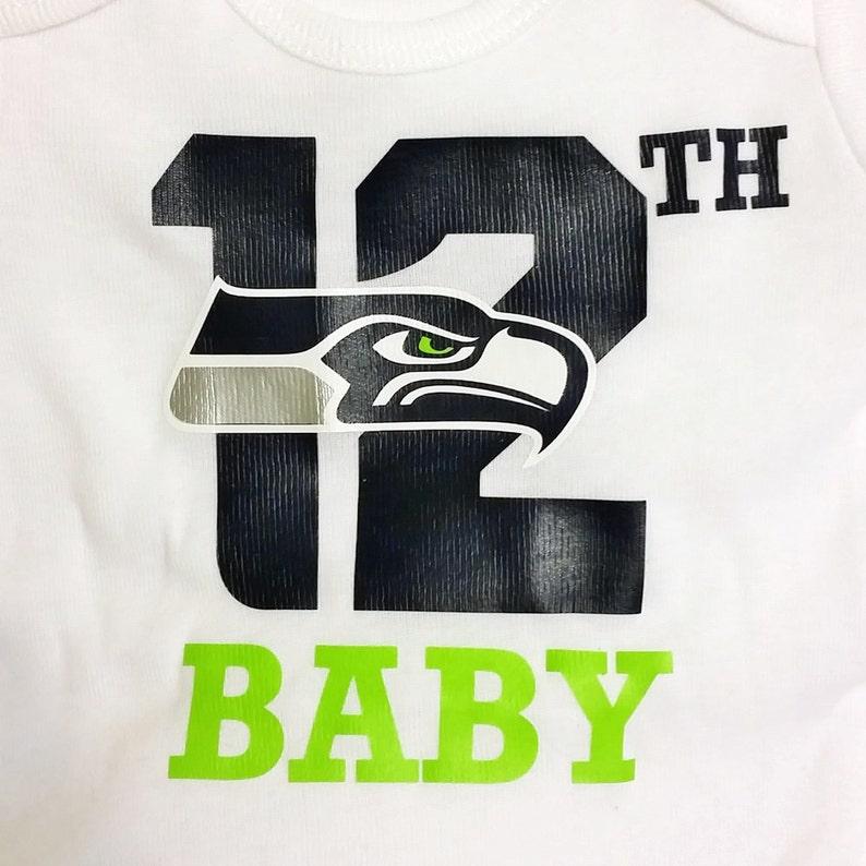 Seahawks Baby Onesie Seattle Seahawks 12th Baby Onesie  db2d019da